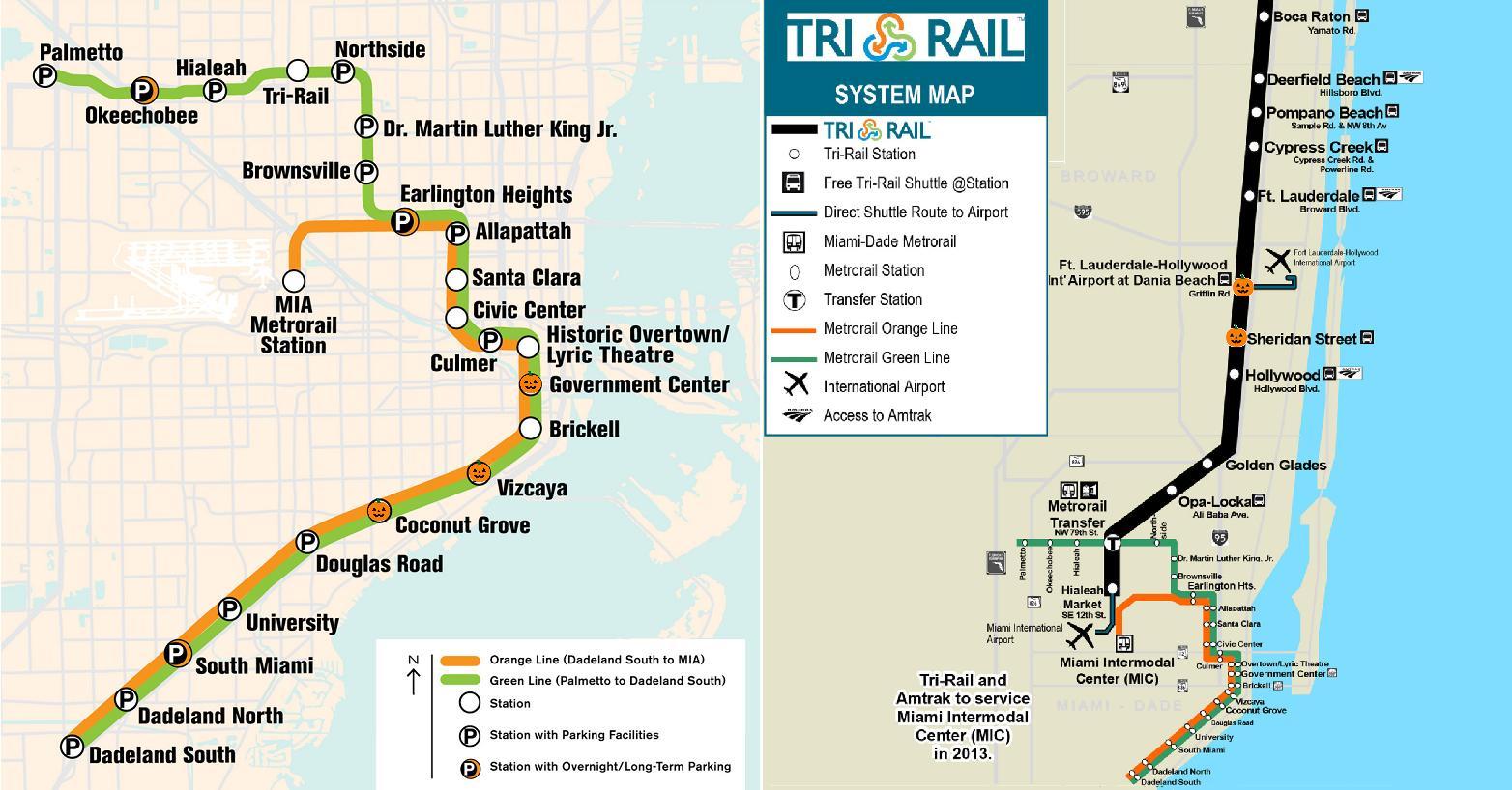 Metro Miami Kartta Metro Kartta Miami Florida Usa