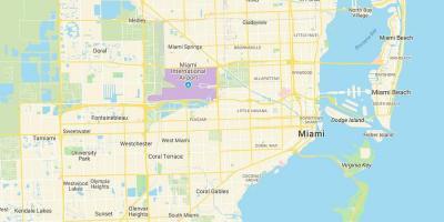 Miami Kartta Kartat Miami Florida Usa